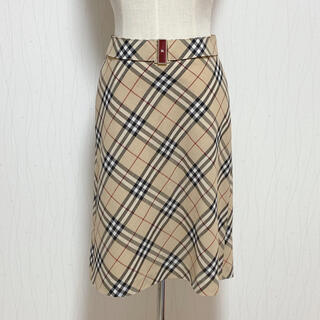 BURBERRY BLUE LABEL - BURBERRY バーバリー チェック スカート