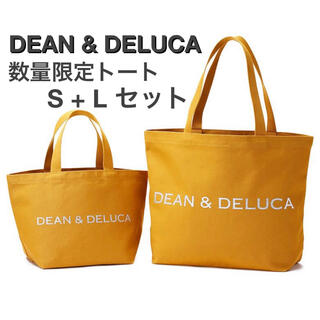 DEAN & DELUCA - DEAN & DELUCA 限定トートバッグ2020 キャラメルイエロー S+L