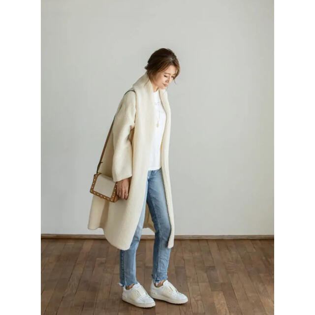 DEUXIEME CLASSE(ドゥーズィエムクラス)のdamefrank ボアコート レディースのジャケット/アウター(毛皮/ファーコート)の商品写真