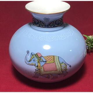 ウェッジウッド(WEDGWOOD)のウェッジウッド ブルーエレファント 花瓶 フラワーベース(花瓶)
