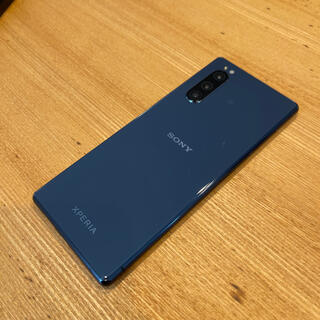 SONY - 【美品】SONY Xperia5 ブルー 国内版SIMフリー(J9260)