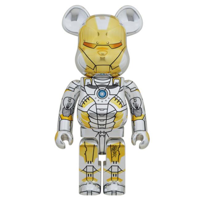 MEDICOM TOY(メディコムトイ)のBE@RBRICK SORAYAMA IRONMAN 1000% エンタメ/ホビーのおもちゃ/ぬいぐるみ(キャラクターグッズ)の商品写真