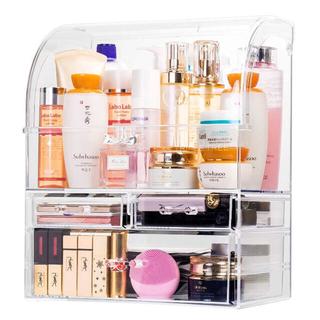 新品 化粧品収納ボックス 大容量 メイクボックス コスメボックス 収納 ケース(メイクボックス)