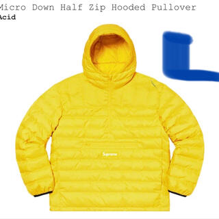 Supreme - Micro Down Half Zip Hooded Pullover 黄L