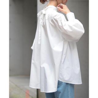 IENA - 値下げ不可【新品タグ付き】ブロードギャザーブラウス ホワイト