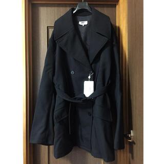 Maison Martin Margiela - 黒新品 メゾン マルジェラ MM6 オーバーサイズ コート レディース ブラック