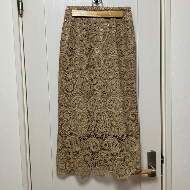 FRAY I.D(フレイアイディー)のCELFORD レーススカート レディースのスカート(ひざ丈スカート)の商品写真