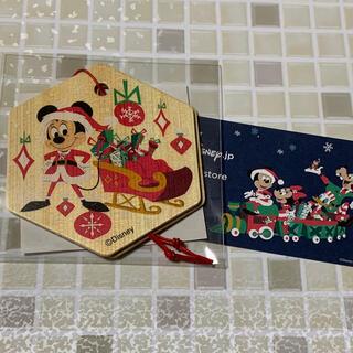 Disney - ディズニー クリスマス ミッキー    サンタ 木製オーナメント