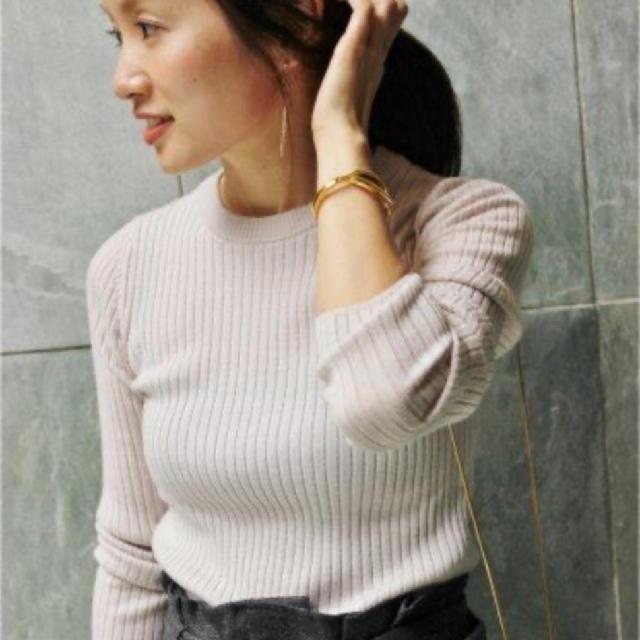 IENA(イエナ)の美品 イエナ IENA  ウール100% リブニットプルオーバー レディースのトップス(ニット/セーター)の商品写真