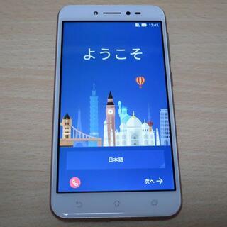 エイスース(ASUS)のASUS ZenFone Live simシムフリースマホ(手帳ケース付)(スマートフォン本体)