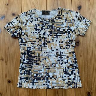 フェンディ(FENDI)のフェンディFENDIシースルーカットソー (Tシャツ)白×ベージュ×黒サイズ36(Tシャツ(半袖/袖なし))