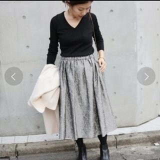 イエナ(IENA)のイエナ IENA ブライトジャガード ギャザースカート(ひざ丈スカート)