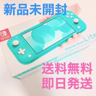 ニンテンドースイッチ(Nintendo Switch)の【新品未開封】Nintendo Switch Lite ターコイズ スイッチ(携帯用ゲーム機本体)