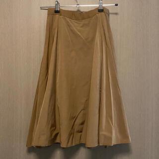 ロペ(ROPE)の【12月中旬に処分します。送料込み】ROPE ベージュフレアスカート(ひざ丈スカート)