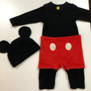 Disney - ミッキー服帽子セット
