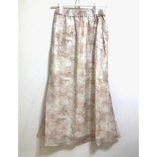 ヘザー(heather)の【未使用】ヘザー タイダイロングスカート フリーサイズ(ロングスカート)