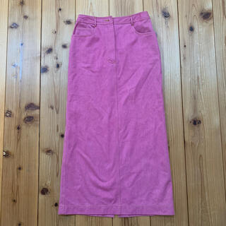 CHANEL - シャネルCHANELヴィンテージデニム地ロングスカートパープル(紫)38
