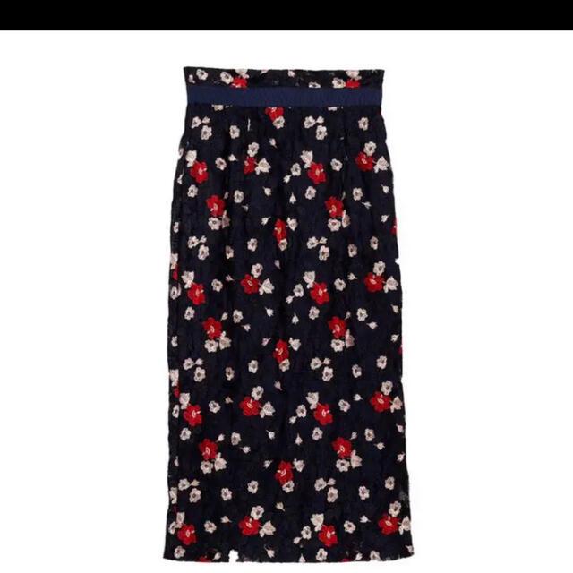 DOUBLE STANDARD CLOTHING(ダブルスタンダードクロージング)の2回のみ着用 ダブルスタンダードクロージング  ラッセルレーススカート  レディースのスカート(ひざ丈スカート)の商品写真