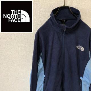 ザノースフェイス(THE NORTH FACE)のノースフェイス☆刺繍ロゴ フリースジャケット ネイビー/ブルー(ブルゾン)