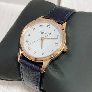 agnes b. - agnes b. アニエスべー 腕時計 ネイビー