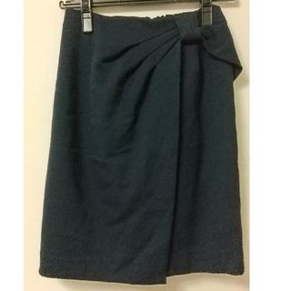 パターンフィオナ(PATTERN fiona)のリボンモチーフスカート ネイビー(ひざ丈スカート)