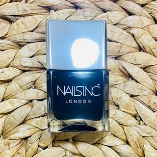 【新品】NAILSINC ネイルズインク レザーエフェクトブラック(マニキュア)