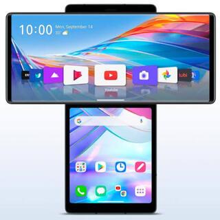 エルジーエレクトロニクス(LG Electronics)の(302)LG Wing 128GB SIMフリー 2枚重ね画面端末(スマートフォン本体)