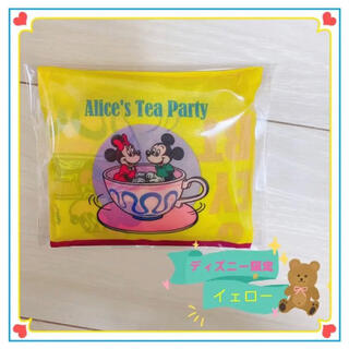 Disney - ディズニー園内限定ミッキーミニー  アリスのティーパーティー イエローエコバッグ