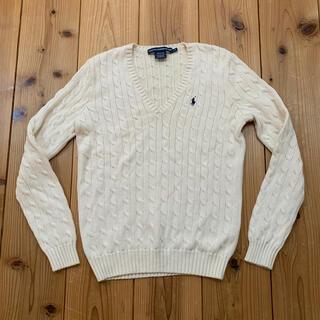 Ralph Lauren - ラルフローレンスポーツケーブルニット白ホワイト(Lサイズ)