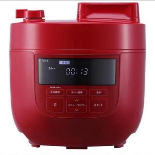 新品未使用 シロカ 電気圧力鍋 4L 大容量 レッド SP-4D151