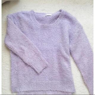 GU - GU♡シャギーニット ラベンダー 紫