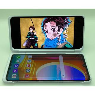 エルジーエレクトロニクス(LG Electronics)の(306) LG VELVET 128GB デュアルスクリーン付き ホワイト (スマートフォン本体)
