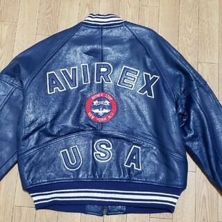 AVIREX - 美品‼️希少‼️ アビレックス AVIREX レザー スタジャン  羊皮 L