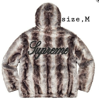 Supreme - M 黒 Supreme Fur Reversible Hooded Jacket