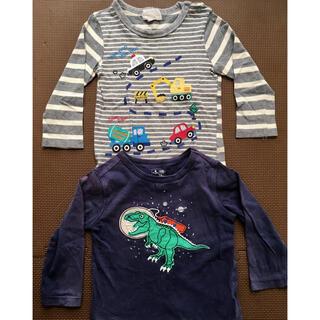 マザウェイズ(motherways)の男の子 長袖 Tシャツ 90 トラック 車 恐竜好きに(Tシャツ/カットソー)