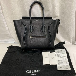 celine - CELINE セリーヌ ラゲージマイクロショッパー ブラック