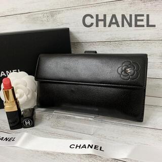 CHANEL - CHANEL✨シャネル✨カメリア✨バタフライ✨Wホック✨長財布