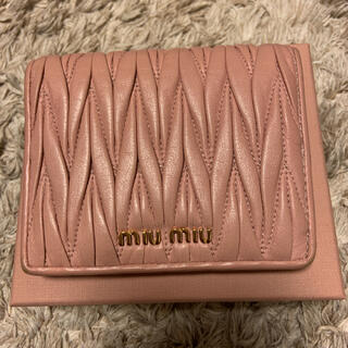 miumiu - miumiu♡マトラッセ 二つ折り財布 コンパクト財布