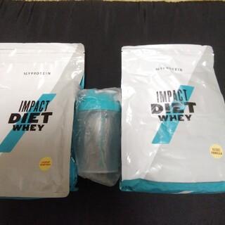 マイプロテイン(MYPROTEIN)のダイエットプロテイン1kg ×2 ミニシェイカー付き(ダイエット食品)