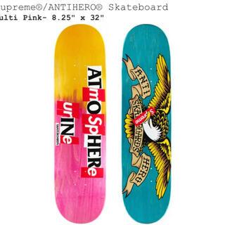シュプリーム(Supreme)のSupreme ANTIHERO Skateboard PinkYellow(スケートボード)