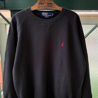 POLO RALPH LAUREN - 90s Ralph Lauren 裏起毛 刺繍ロゴ ワンポイント ラグラン袖