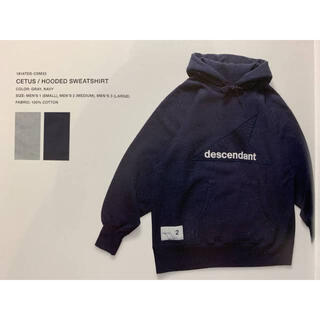 ダブルタップス(W)taps)のdescendant cetus hooded sweatshirt navy(パーカー)