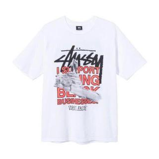 ステューシー(STUSSY)のstussy×off white size XL オフホワイト ステューシー(Tシャツ/カットソー(半袖/袖なし))