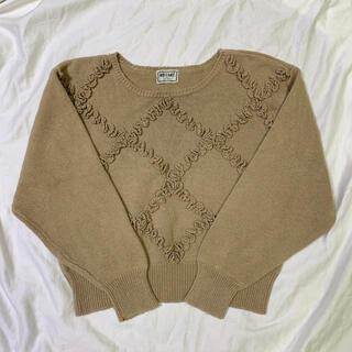 ロキエ(Lochie)のvintage beige knit 💐(ニット/セーター)
