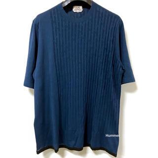 エルメス(Hermes)の国内正規品 極美品 最新モデル エルメス リネン×コットン デザインTシャツ! (Tシャツ/カットソー(半袖/袖なし))