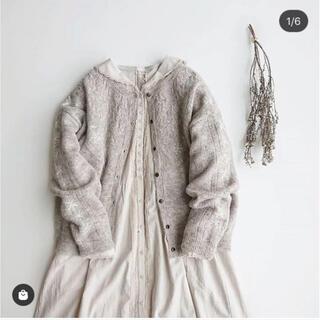 SM2 - 新品 SM2 今季完売 雪の結晶柄刺繍カーディガン ベージュ