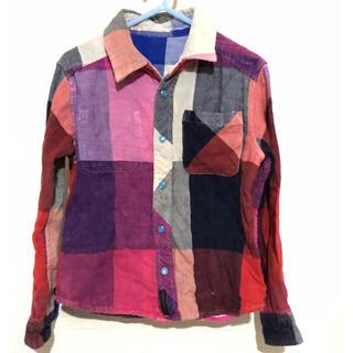 エフオーキッズ(F.O.KIDS)のシャツ リバーシブル チェック ネルシャツ(ブラウス)