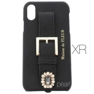 メゾンドフルール(Maison de FLEUR)の新品未使用 Maison de Fleur iPhoneXR ケース 黒(iPhoneケース)