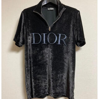 DIOR HOMME - dior homme ベロア ハーフジップ ポロシャツ tシャツ ロゴ 19aw
