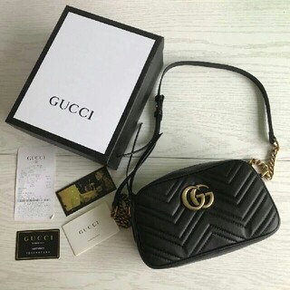 Gucci - 新品未使用GUCCI GGマーモントキルティングスモールショルダーバッグ